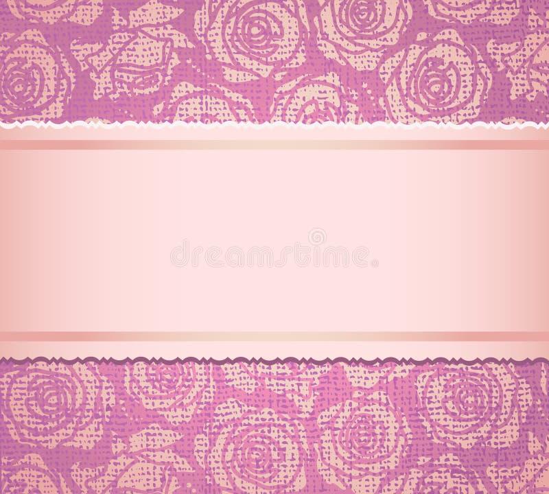 Carte rose d'invitation illustration stock