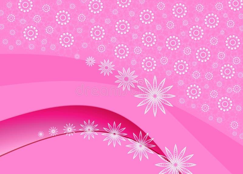 Carte rose de célébration illustration libre de droits