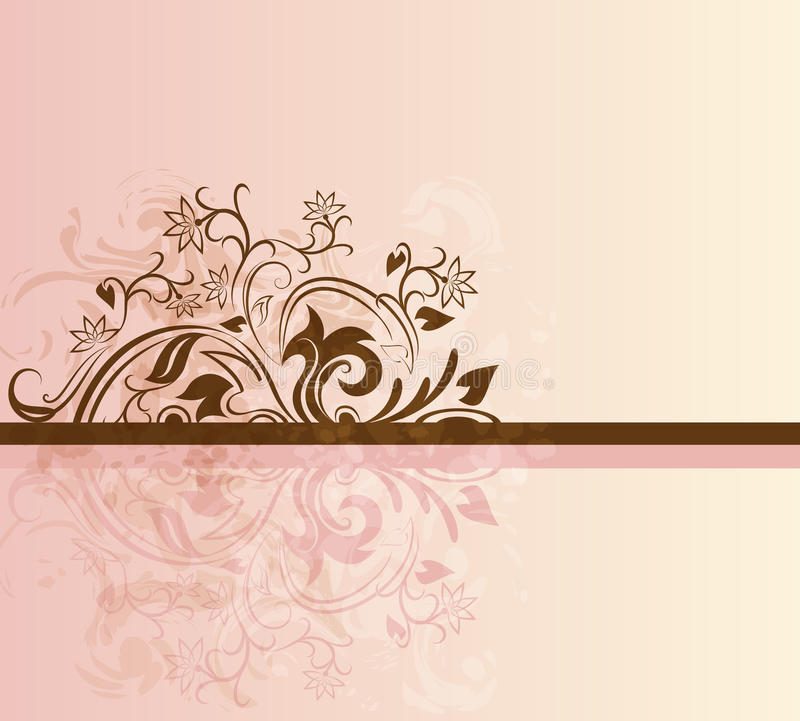 Carte rose et brune illustration stock