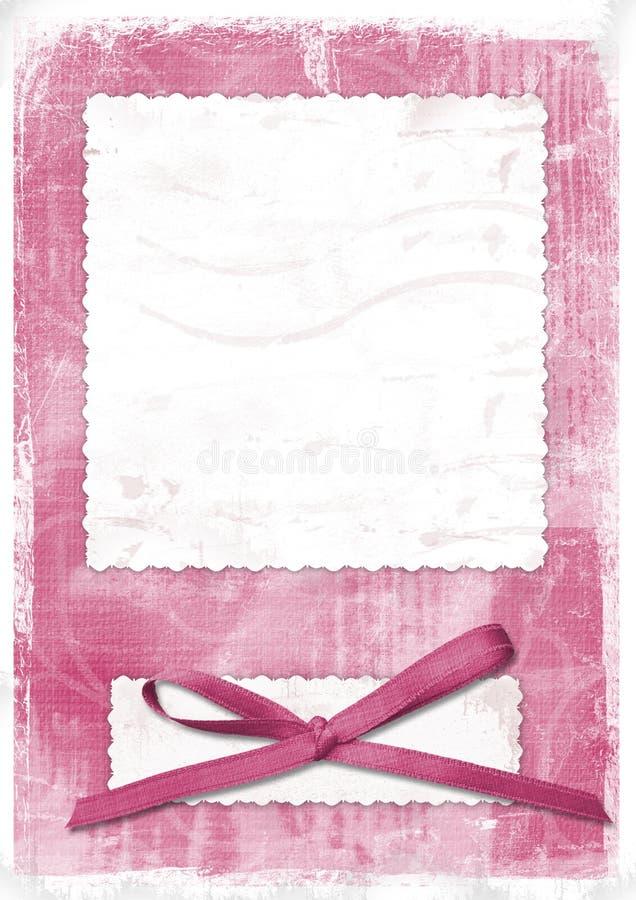 Carte rose pour saluer dans le type rétro illustration de vecteur