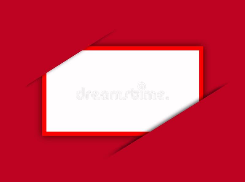 Carte rouge illustration stock