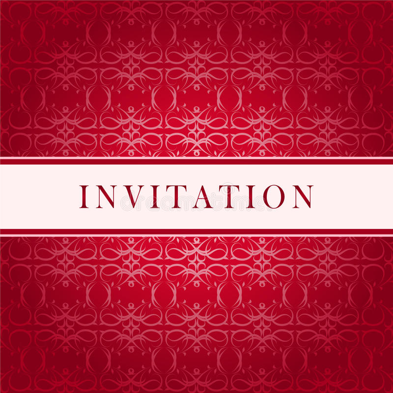 Carte rouge d'invitation illustration libre de droits
