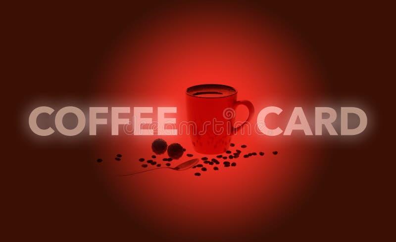 Carte rouge de café illustration de vecteur