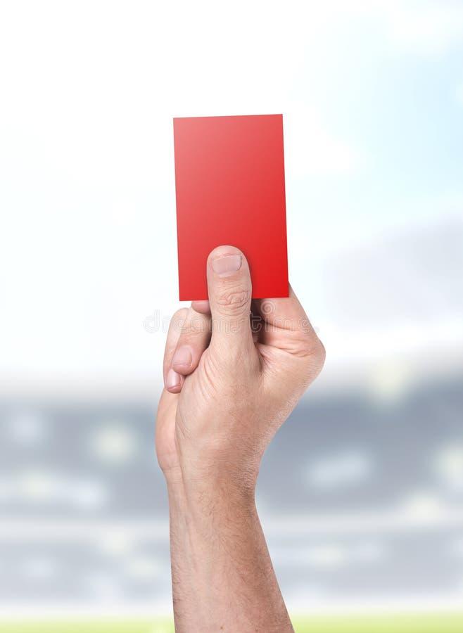 Carte rouge sur le fond de stade illustration libre de droits