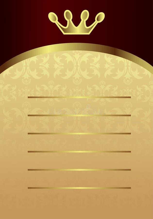 Carte royale illustration libre de droits
