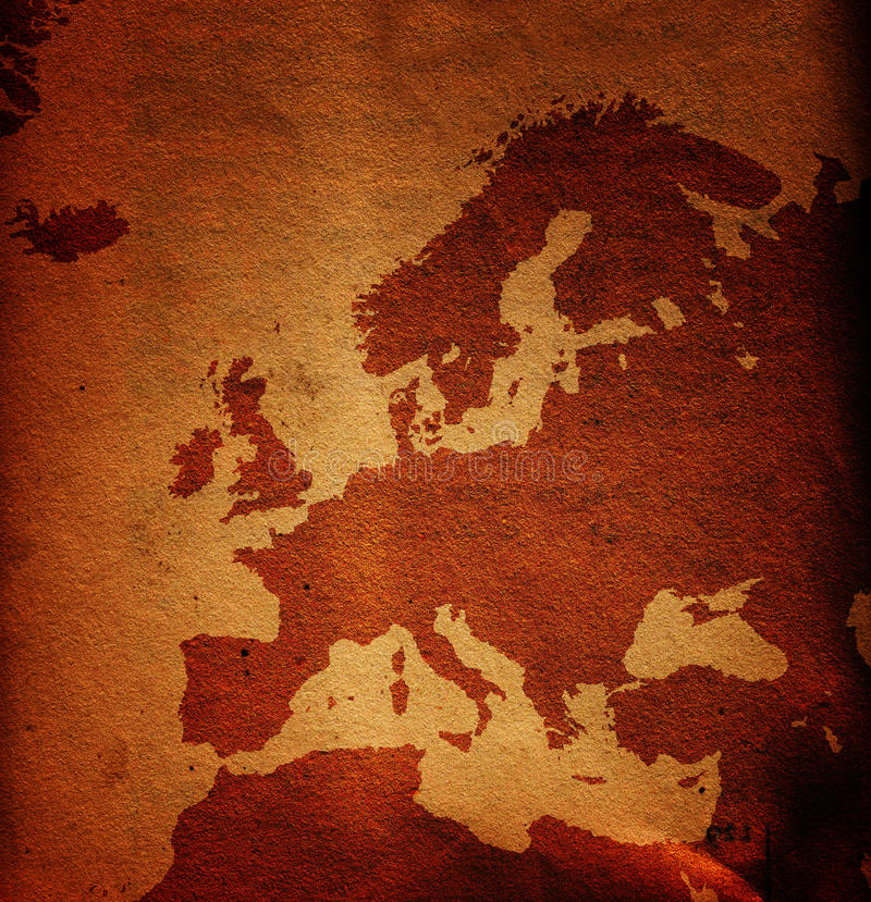 Carte sale de l'Europe photos libres de droits