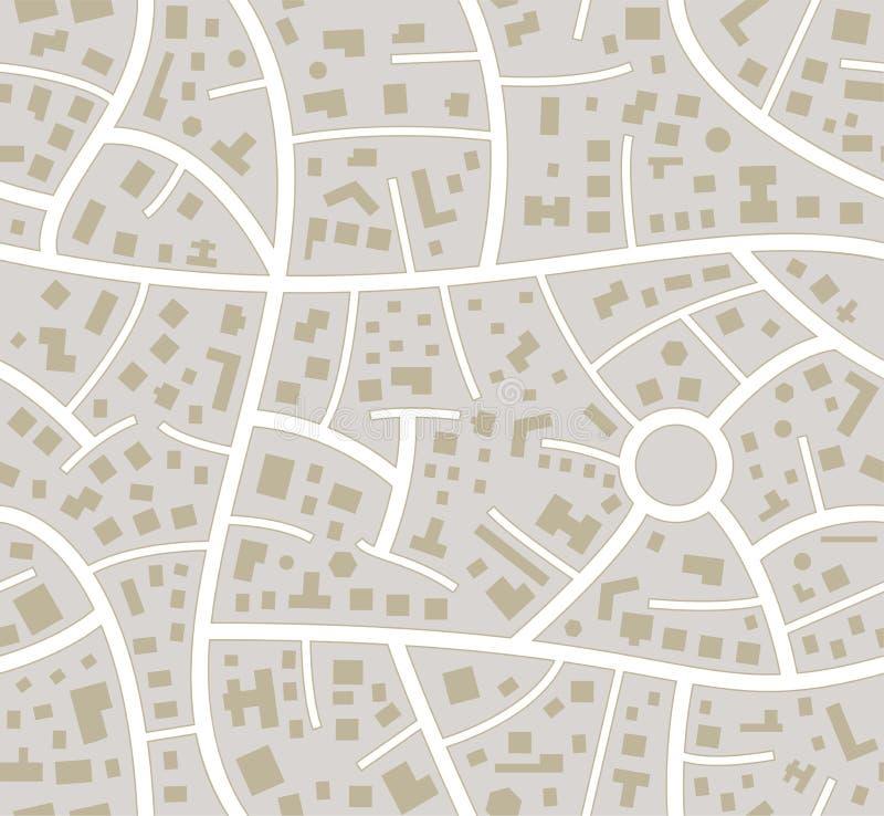 Carte sans couture de ville de route illustration stock