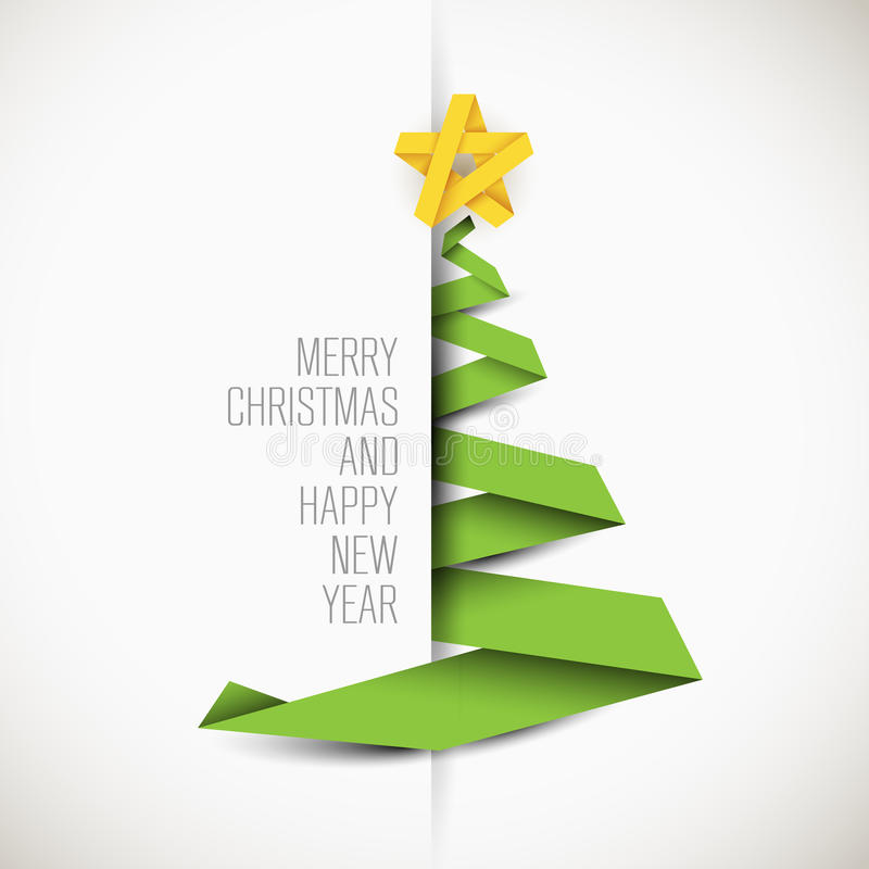 Carte simple avec l'arbre de Noël illustration libre de droits