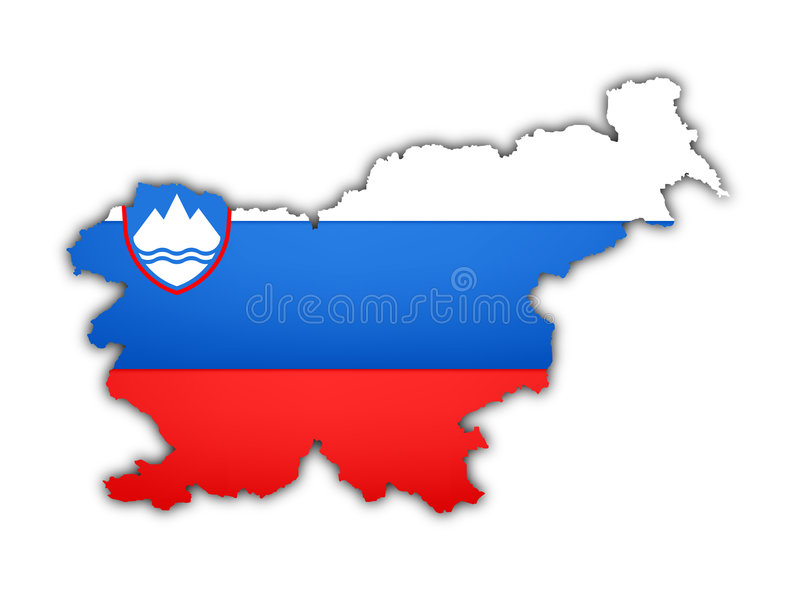 carte Slovénie d'indicateur illustration de vecteur