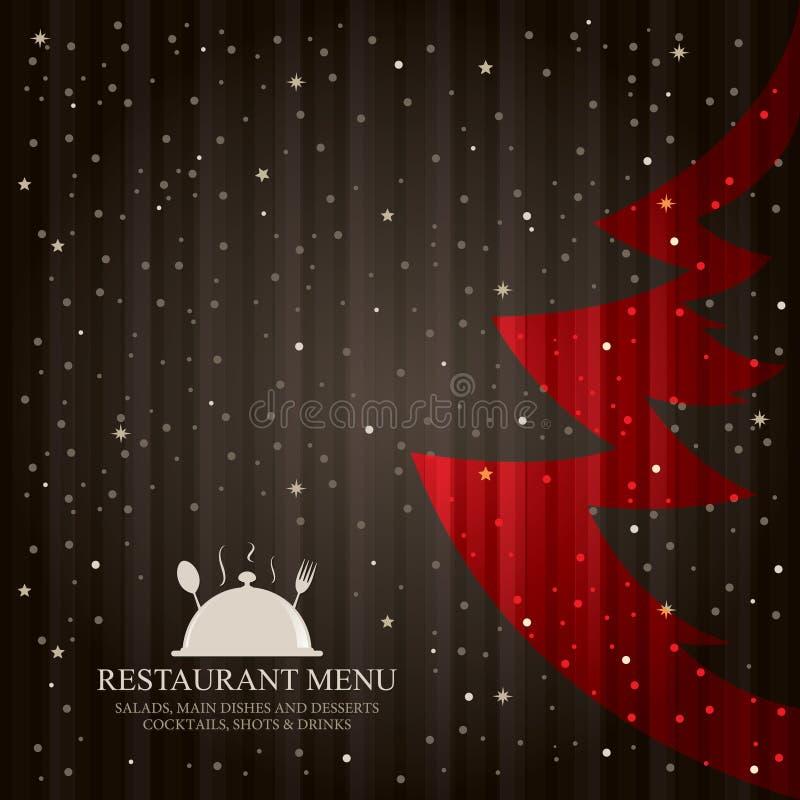 Carte spéciale de restaurant de Noël illustration libre de droits