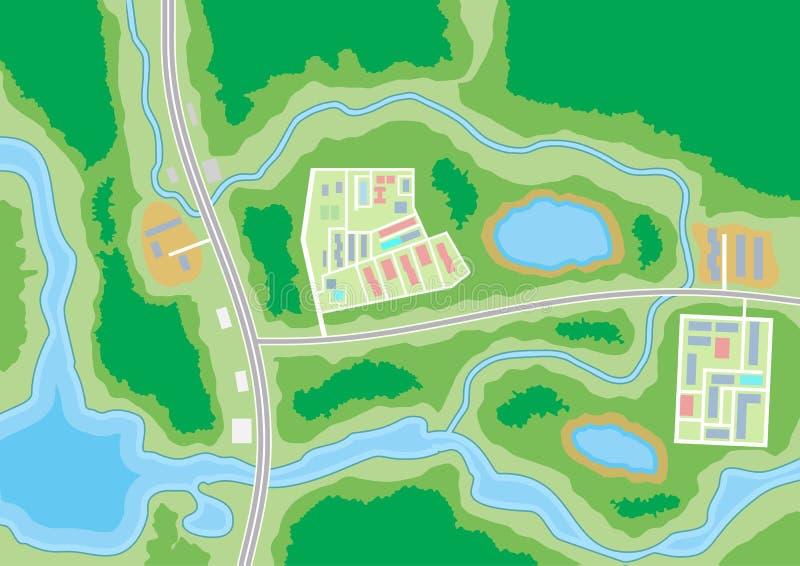 Carte suburbaine de ville abstraite illustration libre de droits