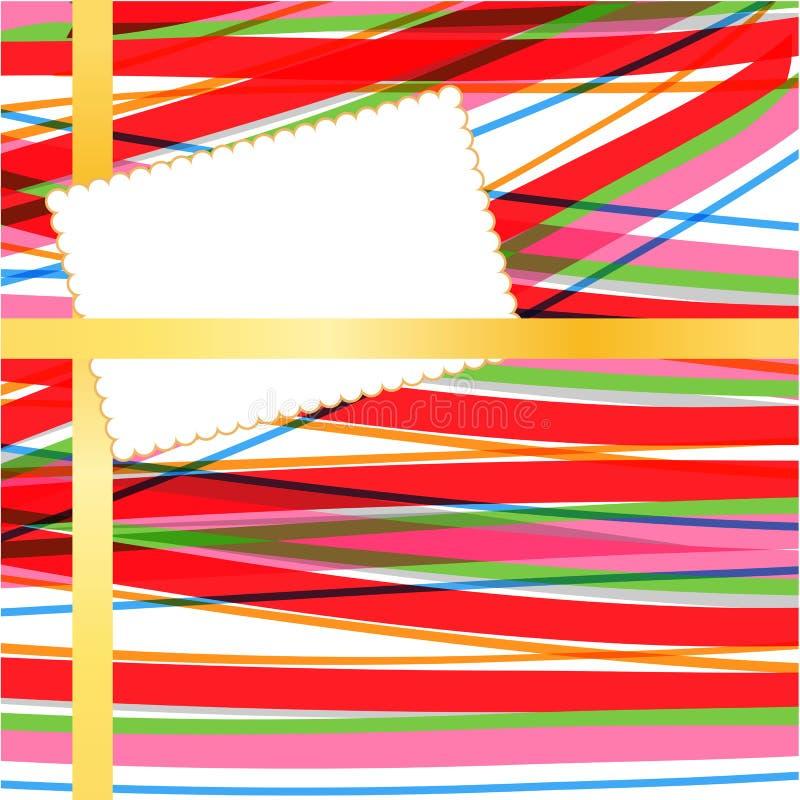 Carte sur le fond abstrait illustration de vecteur
