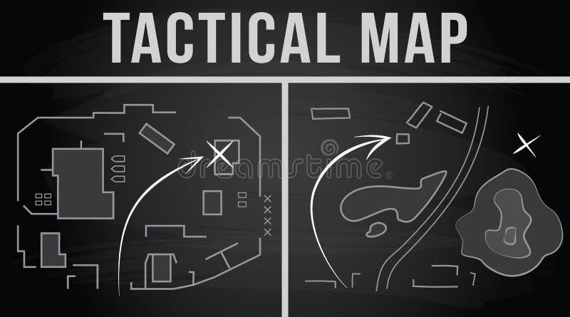 Carte tactique du combat Illustration de vecteur illustration de vecteur