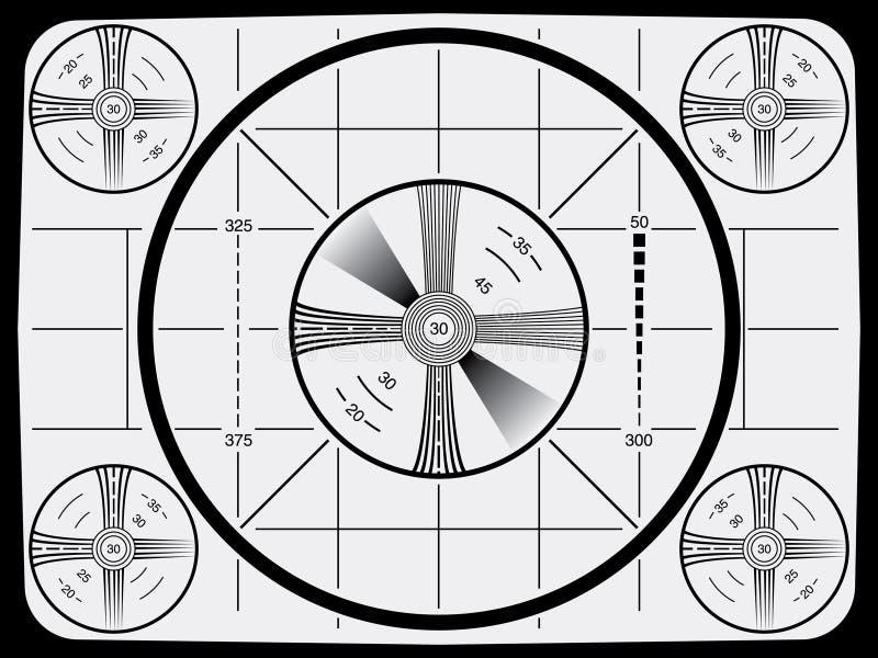 Carte-test de télévision illustration stock