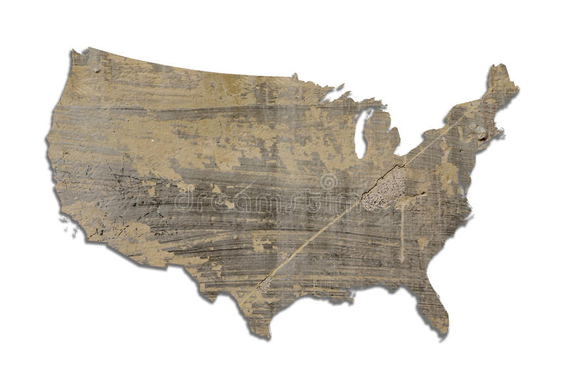 Carte texturisée des Etats-Unis illustration de vecteur