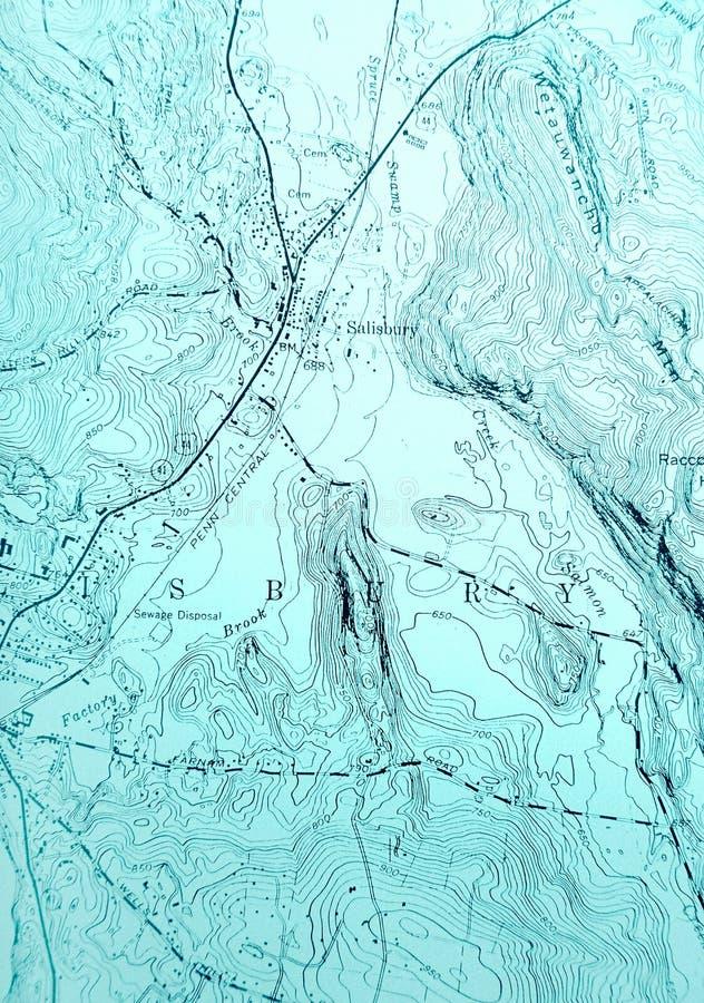 Carte topographique dans le bleu photo stock