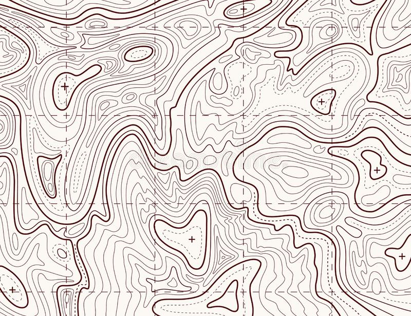 Carte topographique E r illustration stock