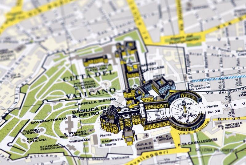 carte vatican de ville photo stock