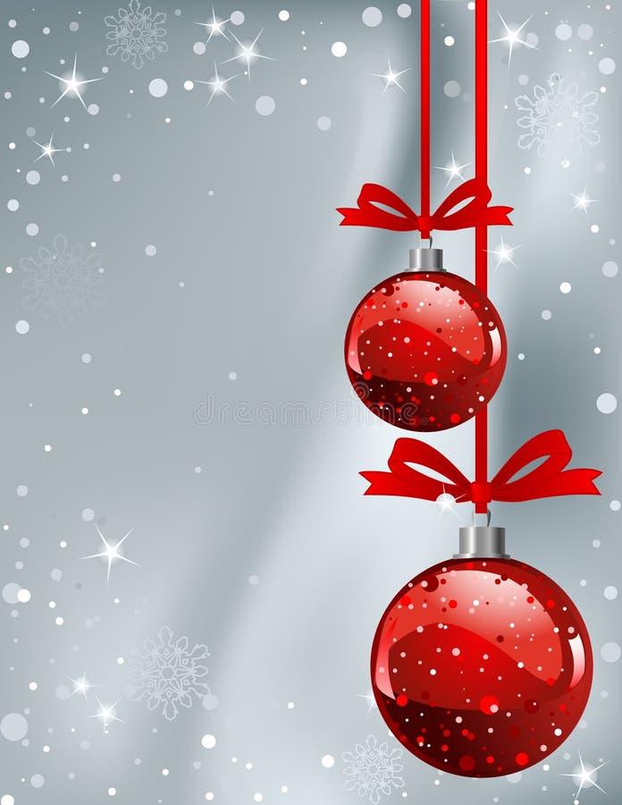 Carte verticale de place de Noël illustration de vecteur