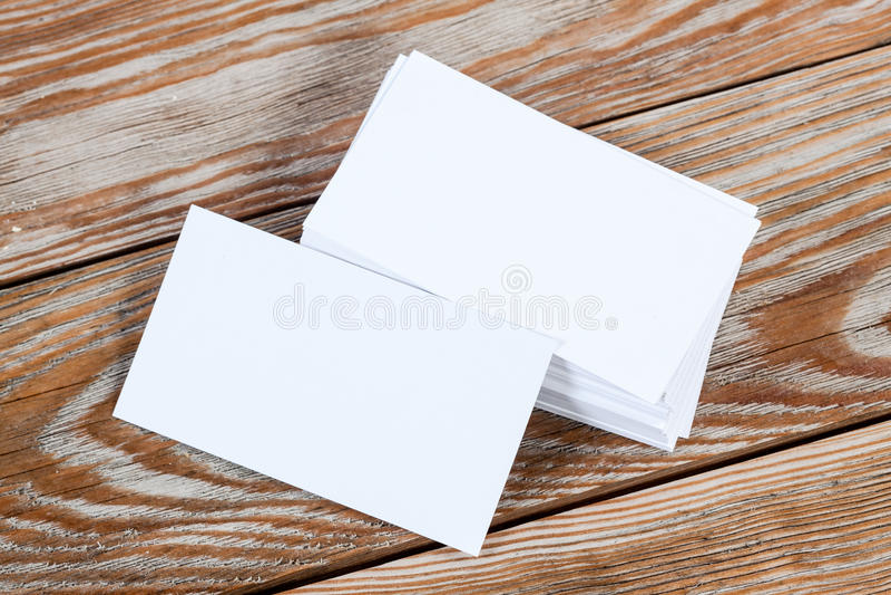 Carte vierge blanche de visite d'affaires photographie stock