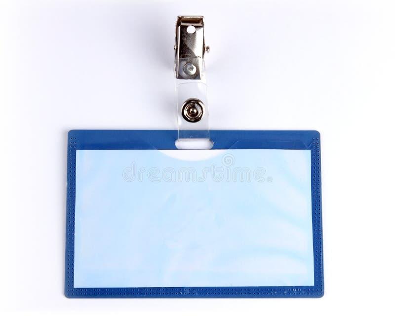 Carte vierge d'identification d'insigne photographie stock libre de droits