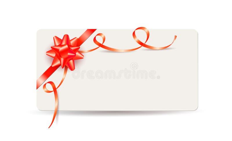 Proue Et Bandes De Noël Avec La Carte Vierge De Cadeau