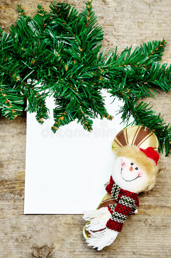 Carte vierge de Noël image libre de droits