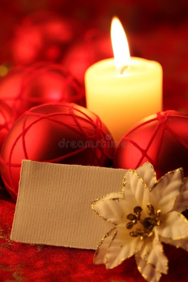 Carte vierge sur le fond de Noël images stock
