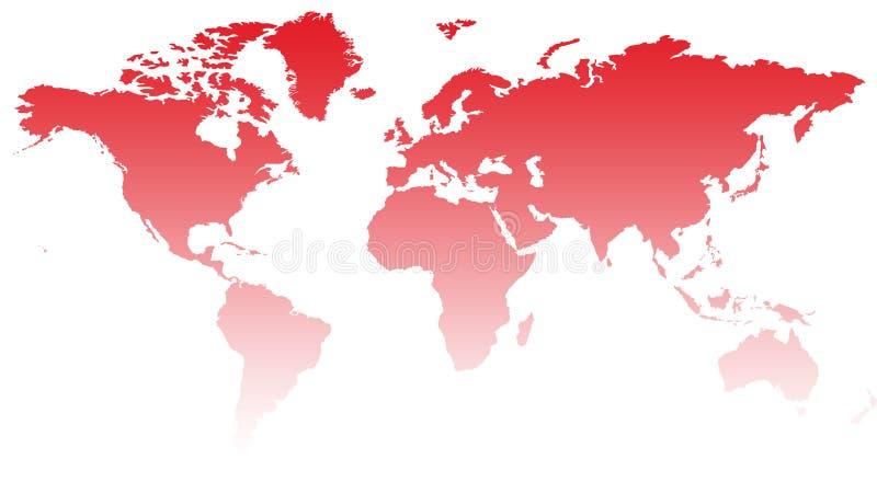 Carte XI du monde illustration libre de droits