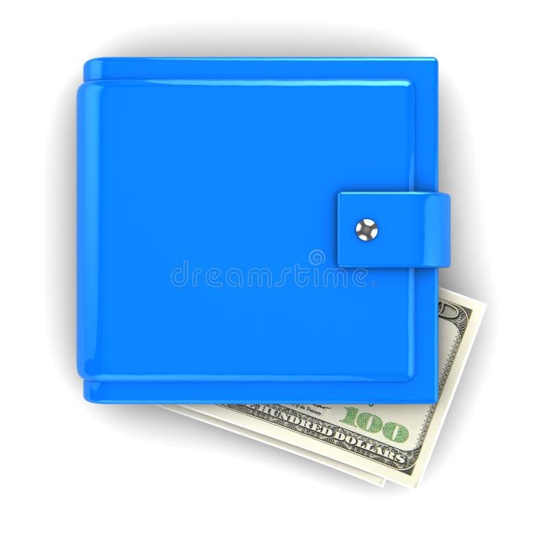 Carteira azul ilustração stock