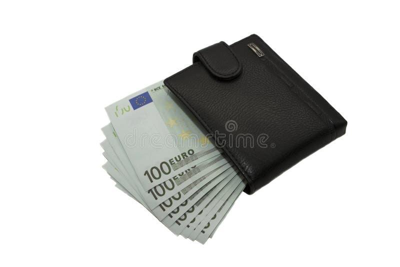 Carteira com euro imagem de stock