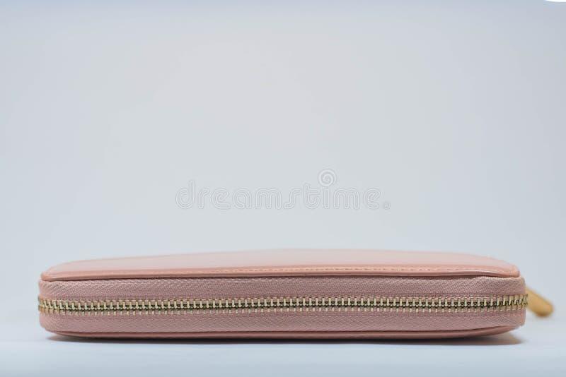 Carteira cor-de-rosa da mulher foto de stock royalty free