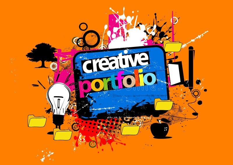 Carteira creativa ilustração do vetor