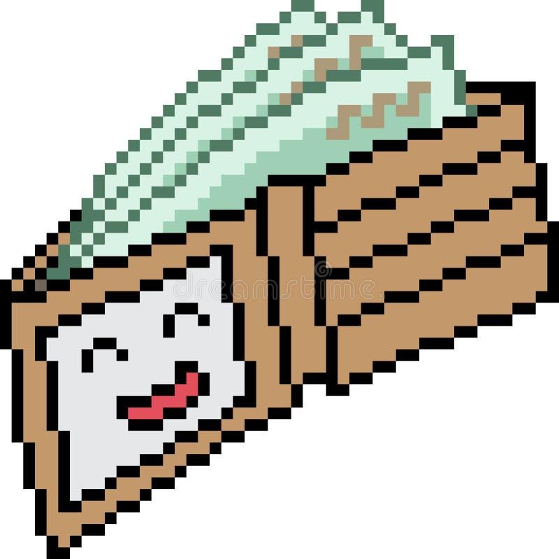 Carteira da arte do pixel do vetor completamente ilustração stock