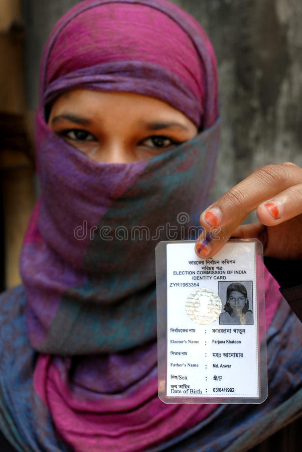 Carteira de identidade do eleitor foto de stock