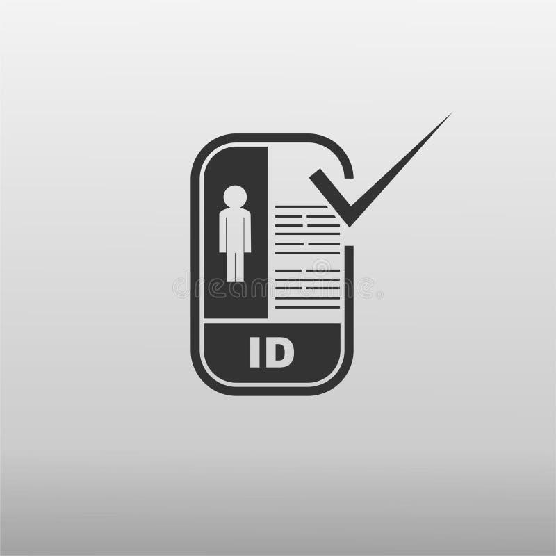 Carteira de identidade verificado ilustração royalty free