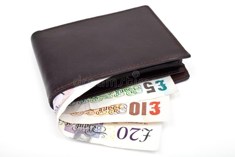 Carteira e dinheiro imagem de stock