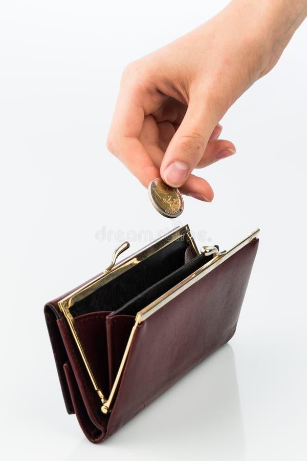 Carteira e moeda fotos de stock