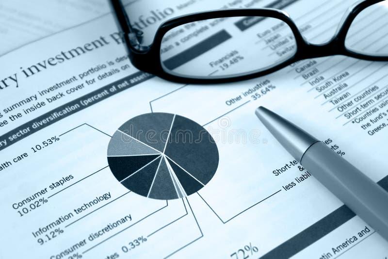 Carteira financeira, revisão do investimento fotografia de stock royalty free