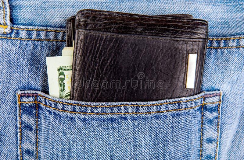 Carteira no bolso imagem de stock