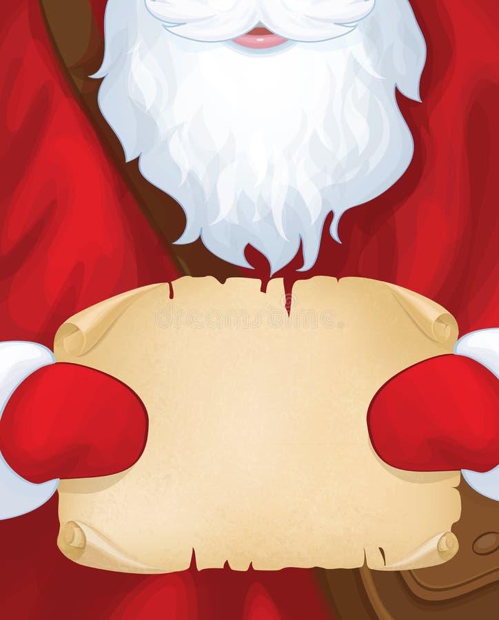 Carteiro de Santa Claus do vetor ilustração royalty free