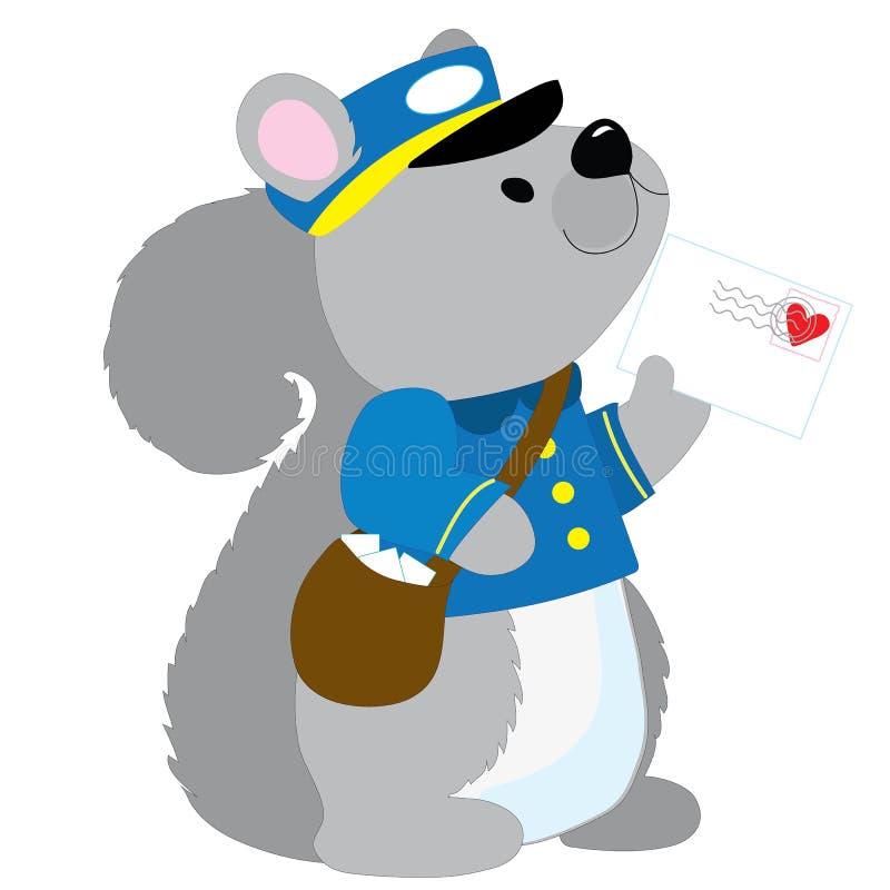 Carteiro do esquilo ilustração do vetor