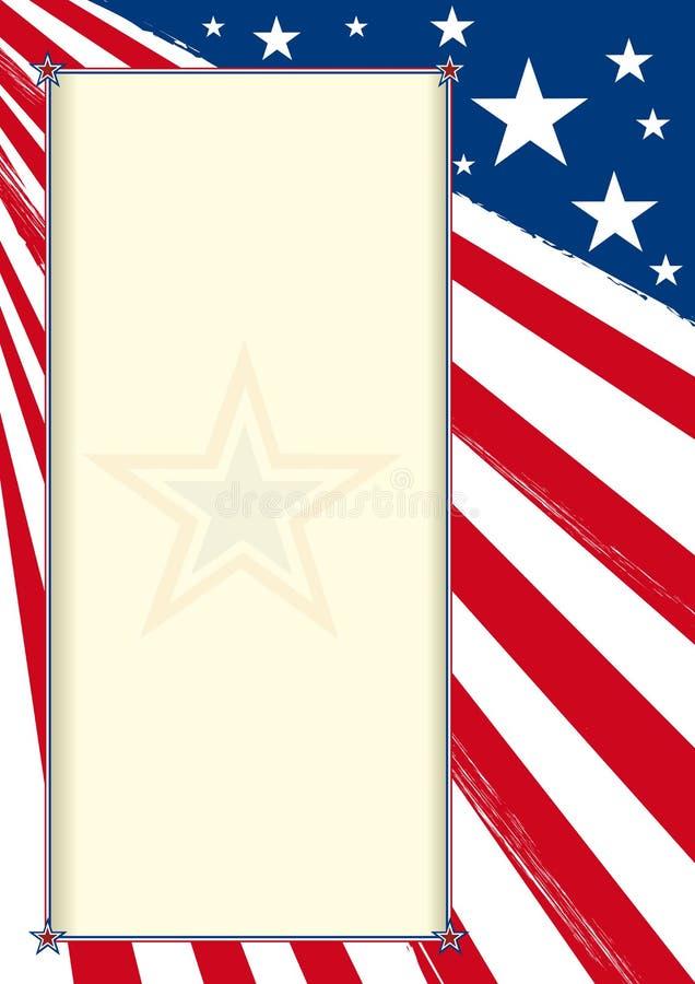 Cartel americano del certificado ilustración del vector