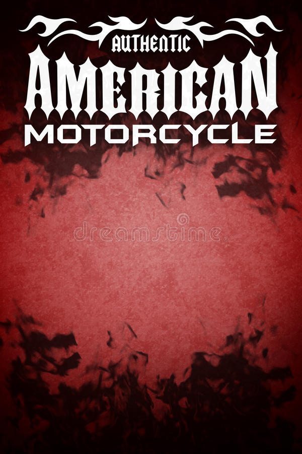 Cartel americano del grunge de la motocicleta stock de ilustración
