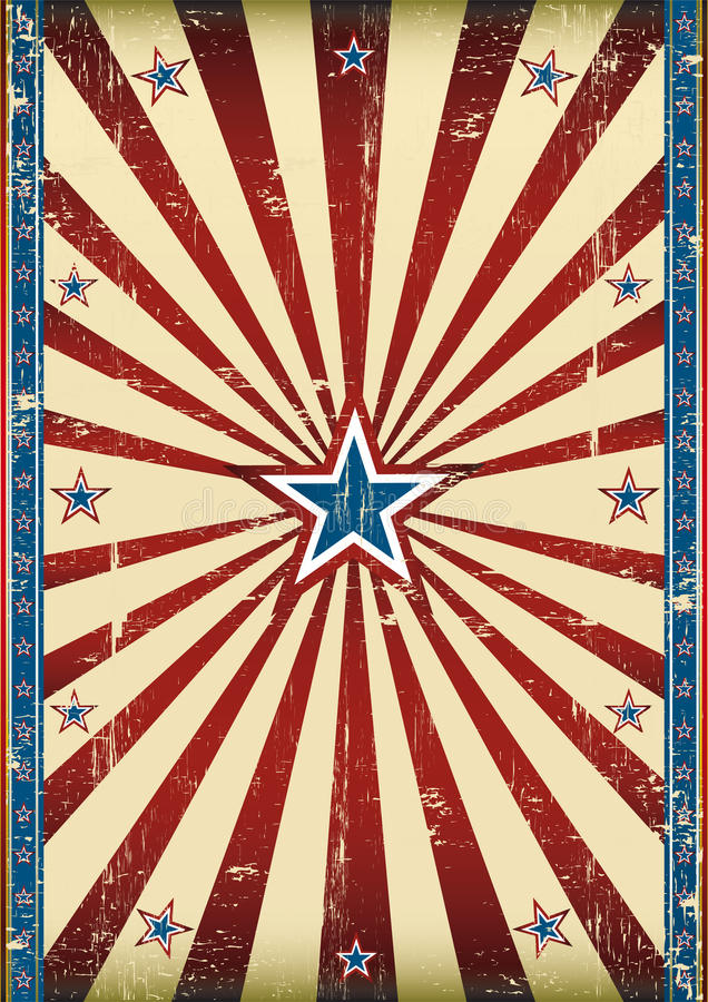 Cartel americano sucio stock de ilustración