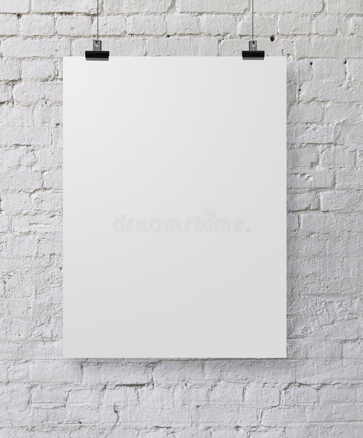Cartel blanco imagen de archivo