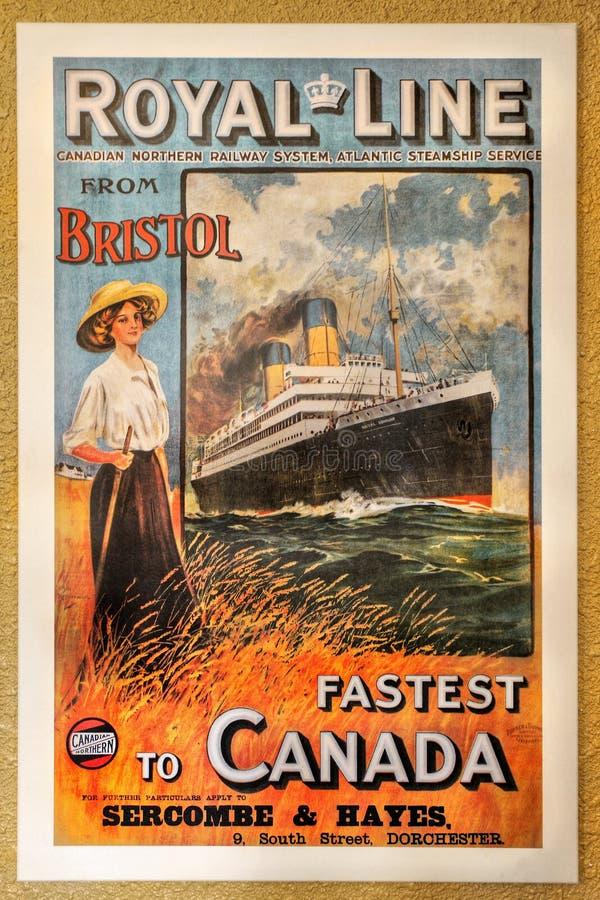 Cartel canadiense de los ferrocarriles del vintage fotos de archivo