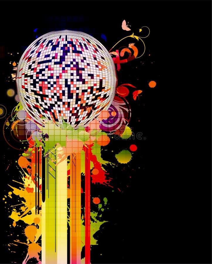 Cartel colorido del concierto ilustración del vector