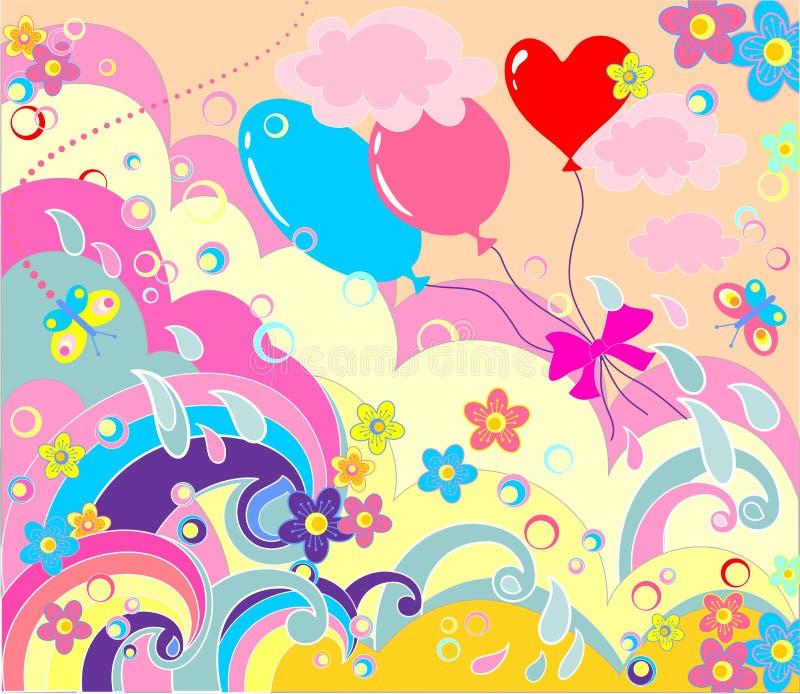 Cartel colorido del saludo ilustración del vector