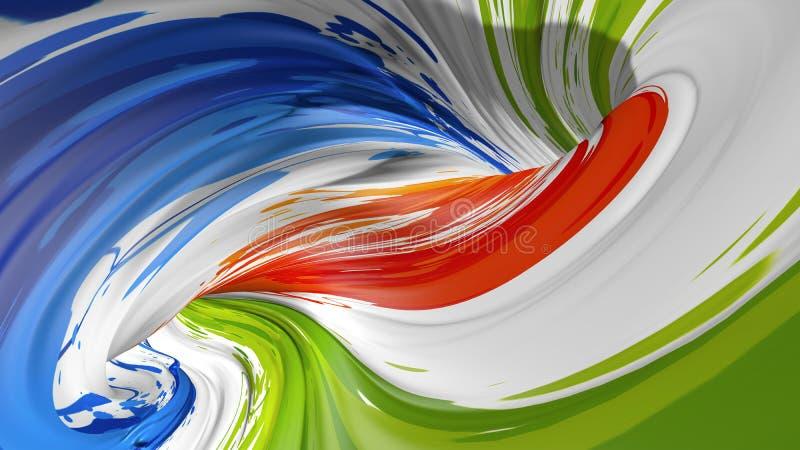 Cartel colorido moderno del flujo Fondo l?quido del color de la forma de la onda Dise?o del arte para su proyecto de dise?o 3d ri fotografía de archivo libre de regalías